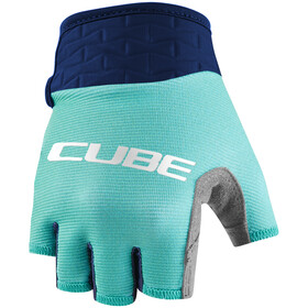 Cube Performance Short Finger Gloves Kids, blue/mint